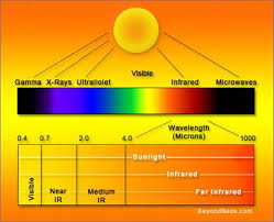 Volunteer Mold Knoxville graphic of the Light (Visible and invisble) spectrum.