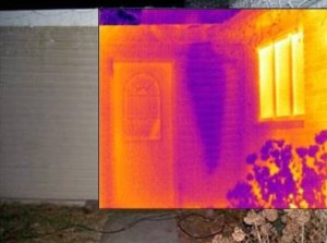 Thermal Imaging Knoxville of water leak near front door of this Knoxville TN home.