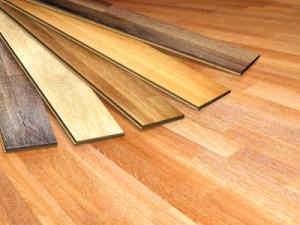 Image of laminate flooring materials in various colors