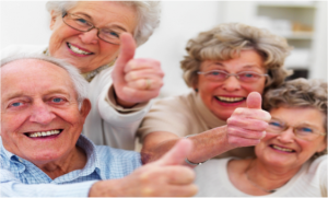 Photo of Happy Senior Citizens with thumbs up. Seniors love Volunteer Inspections.