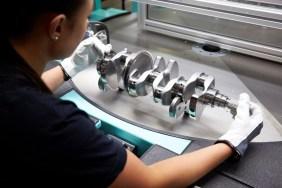Crank shaft quality control in Volvo Cars' engine factory in Skövde, Sweden