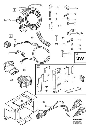 31257593  Volvo Control unit Towbar, wiring Trailer, Basic, Always | Volvo Parts Webstore