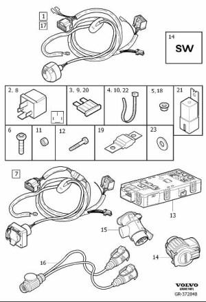 30664974  Volvo Control unit Towbar, wiring Trailer