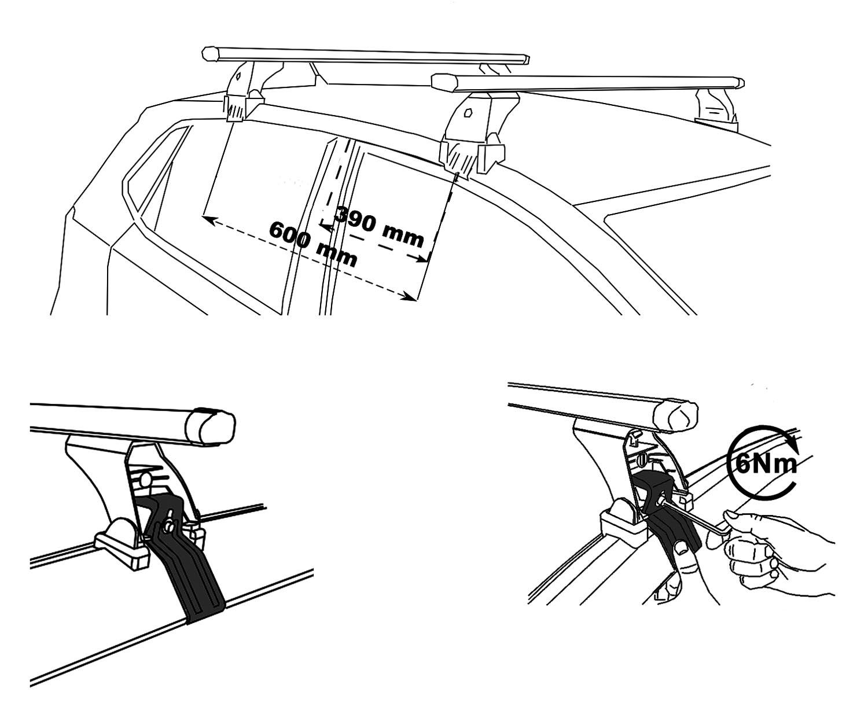 Roof Rack Vdp Original Fix Amp Slide Nissan Juke Hatch 5 Door