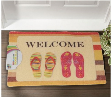 tapis paillasson pour porte d entree 60cmx40cm motif chausson