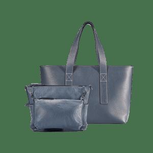 "Package ""Gina"": INSIDER + Kurzgurt + Business Bag Travel – Marineblau"