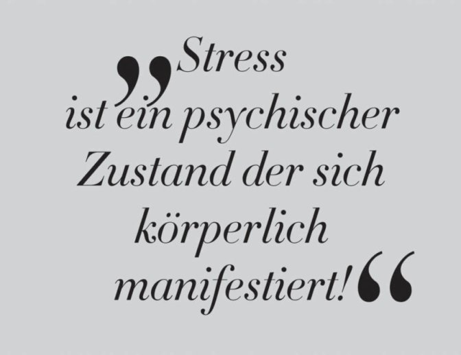 PHYSIOTHERAPIE als Rezept gegen Stress
