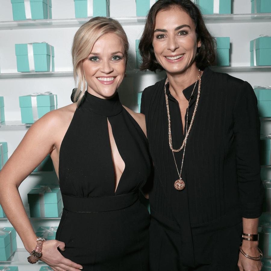 VONsociety: Tiffany, Reese Witherspoon und Design Director, Tiffany & Co., Francesca Amfitheatrof © 2016 Todd Williamson