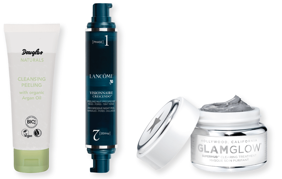 VONsociety: Reinigung, Douglas Naturals Cleansing Face Peeling, Lancôme Peeling, GLAMGLOW Supermud Clearing Treatment