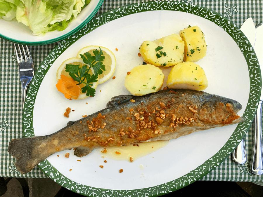 VONsociety: Wolfgangsee Salzkammergut, frischer Fisch, Hotel-Gasthof Falkenstein