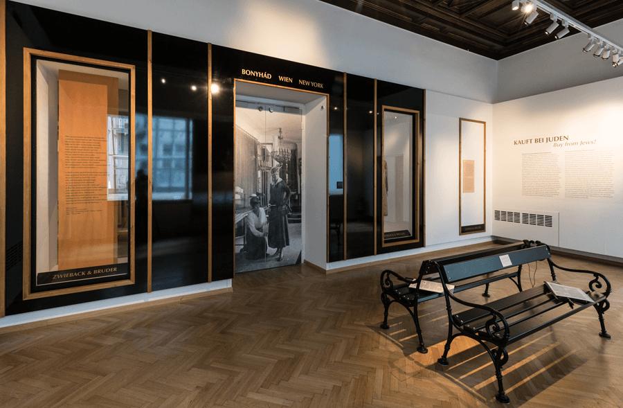 VONsociety: Kauft bei Juden, Ausstellungsansicht Jüdisches Museum Wien © Wulz