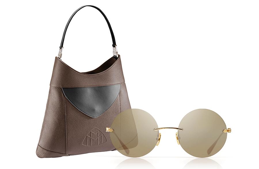 VONsociety: Last minute Geschenke für die Liebste, Maybach Luxury Sonnenbrille Titan mit Echtgold, The Baroness Handtasche Lamm-Nappaleder Maybach Boutique