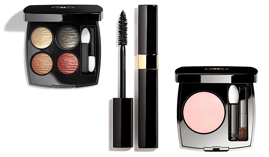 VONsociety: CHANEL Makeup Haute Couture Show Spring Summer 2018, LES 4 OMBRES Éclat Énigmatique, DIMENSIONS DE CHANEL Nero metal, Ombre Première N°12 Rose Synthétique