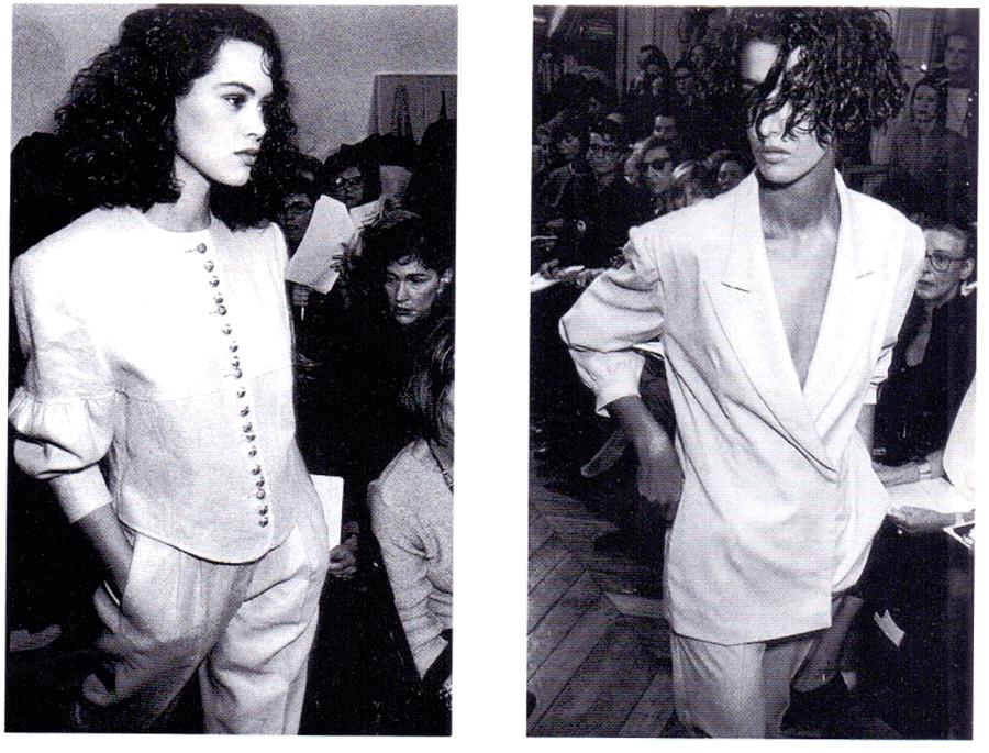 VONsociety: Modells bei der Modeschau von Helmut Lang in Paris 1987