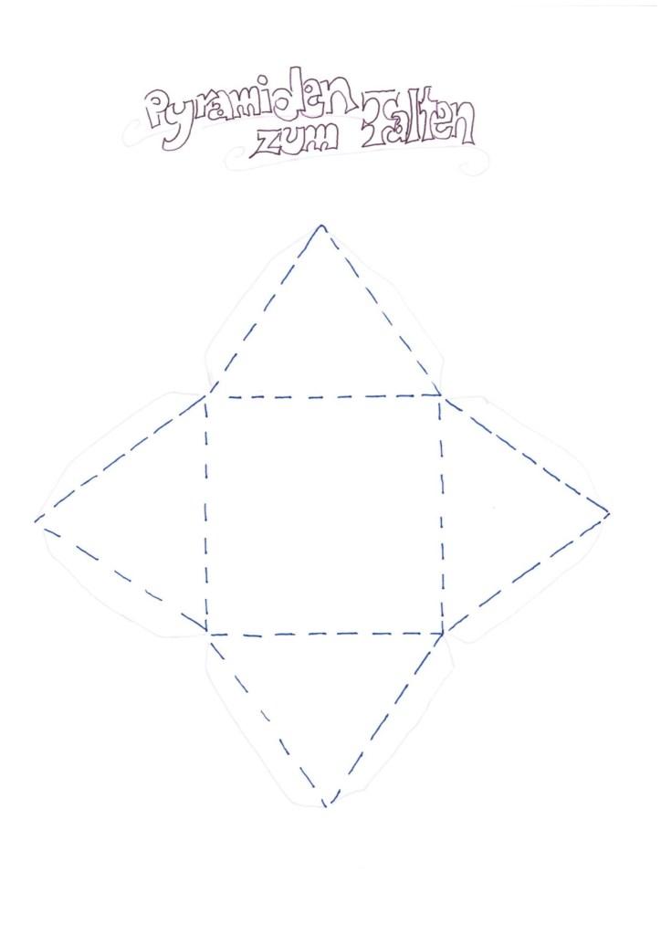Faltpyramide als Verpackung für Badebombe
