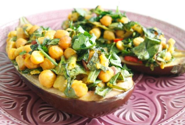 recipe: aubergine spinach curry coconut milk [39]