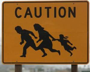 illegals crossing