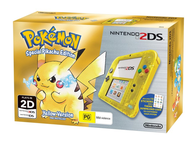 Nintendo 2DS Special Edition bundle (Pokémon Yellow Version)