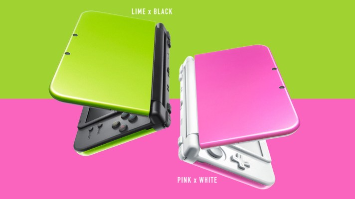 Two new Nintendo 3DS XL colours for Japan – Lime & Black and Pink & White