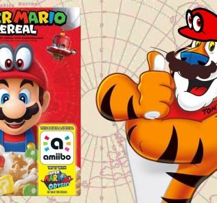 Super Mario Odyssey amiibo cereal