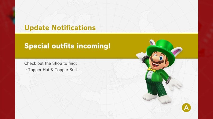Nintendo just stealthily added another outfit to Super Mario Odyssey