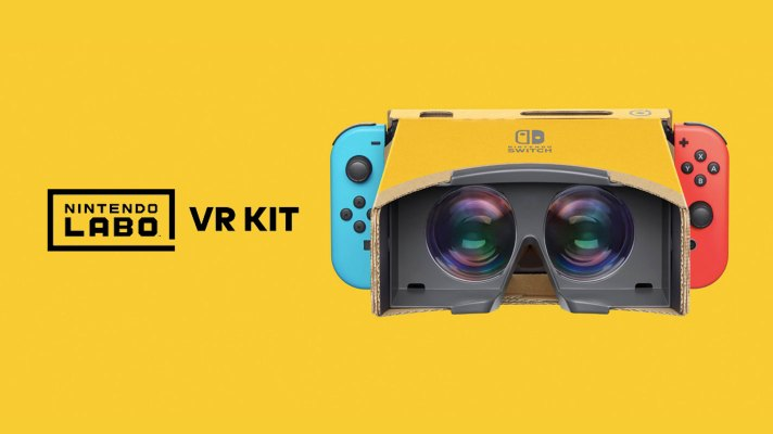 The next Labo kit is a VR headset launching in April