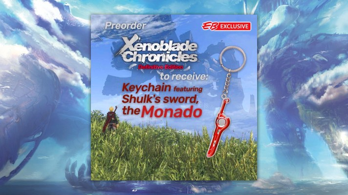 Get a Monado keychain when you preorder Xenoblade Chronicles: Definitive Edition at EB Games