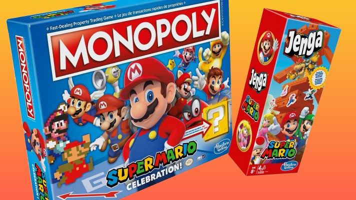 Celebration Super Mario Monopoly and Super Mario Jenga coming in August