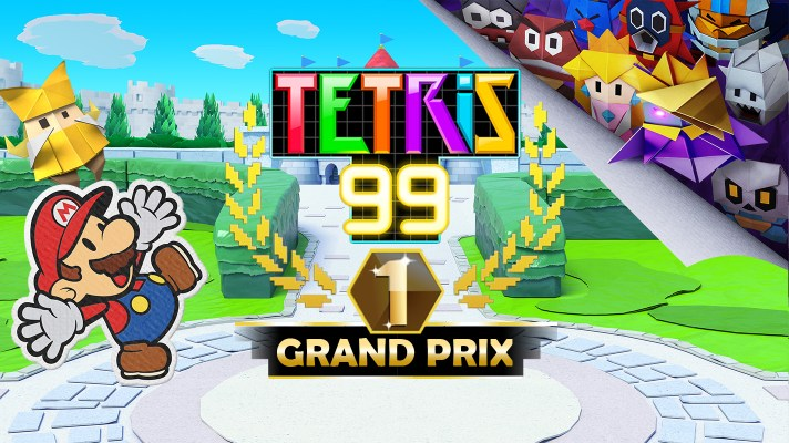 A new Paper Mario: The Origami King Grand Prix is coming to Tetris 99