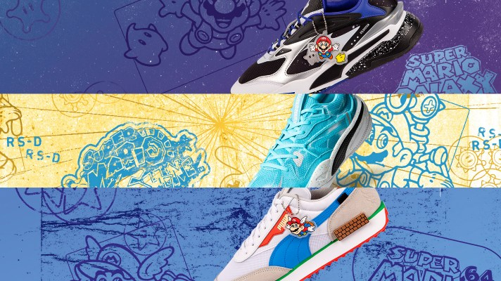Puma's Super Mario 64, Galaxy and Sunshine shoes now on sale in Australia