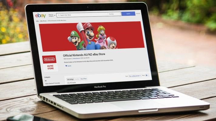 Nintendo Australia's eBay store is shutting down this month