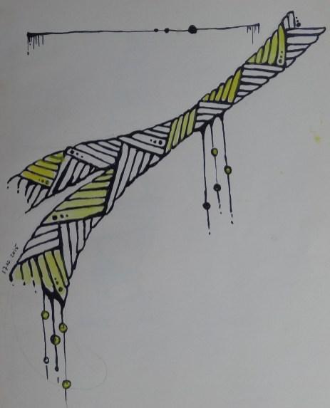 tekening in schrift
