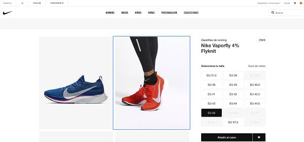 Descuentos zapatillas nike