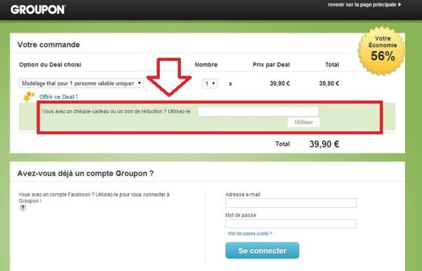 Réduction Groupon.fr