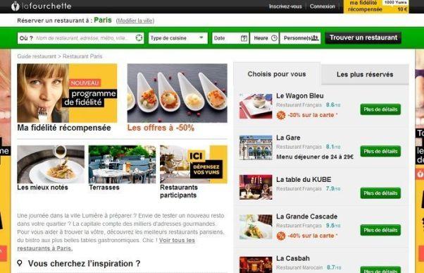 Réservation LaFourchette