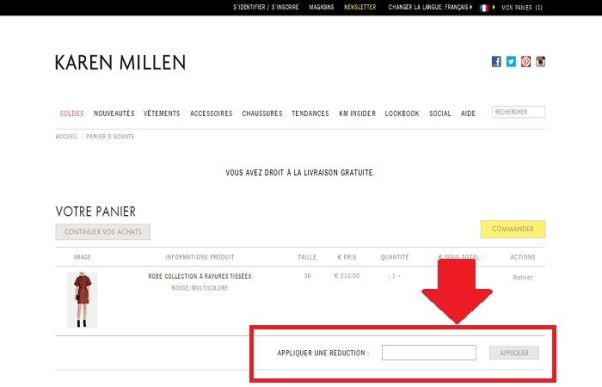 Réduction Karen Millen