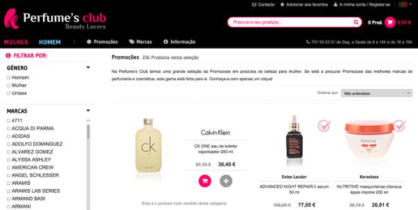 Perfumesclub.pt Descontos