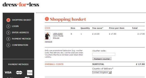 Dressforless voucher code