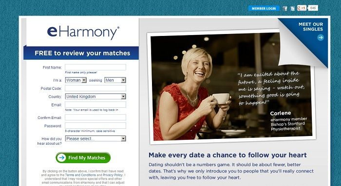 Does eharmony work uk