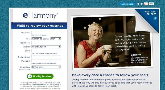Does eharmony work uk
