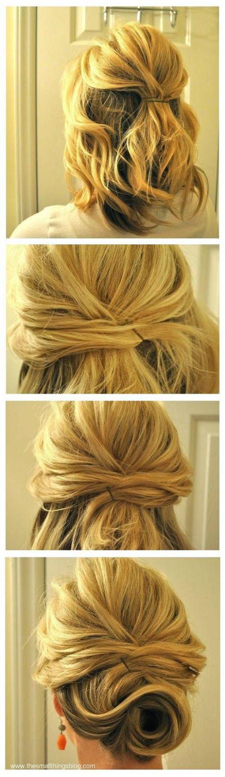 peinados para cabello corto recogido