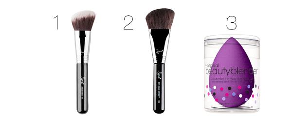 brochas esponja de maquillaje bronzer