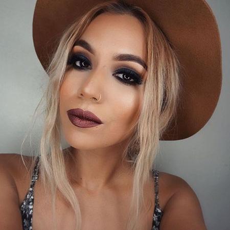 metallic lips look fin de semana