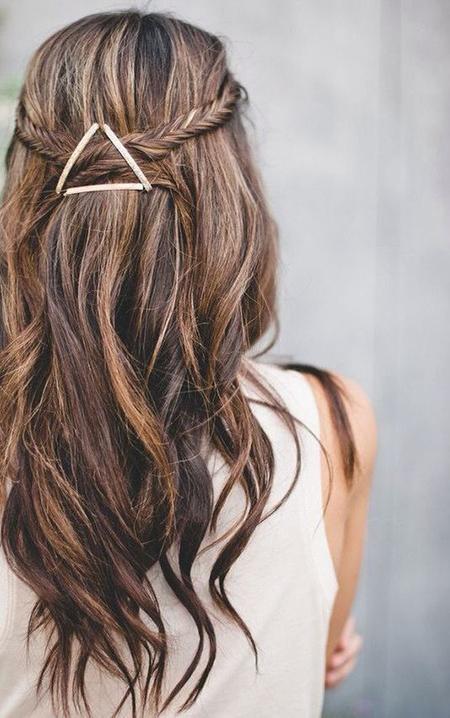 trenzas y pasadores ideas de peinados rapidos