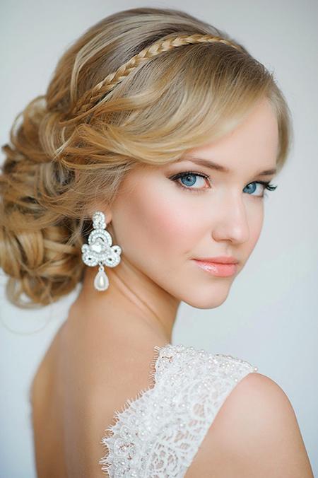 Peinados para novias 2014 semirecogidos cabello corto