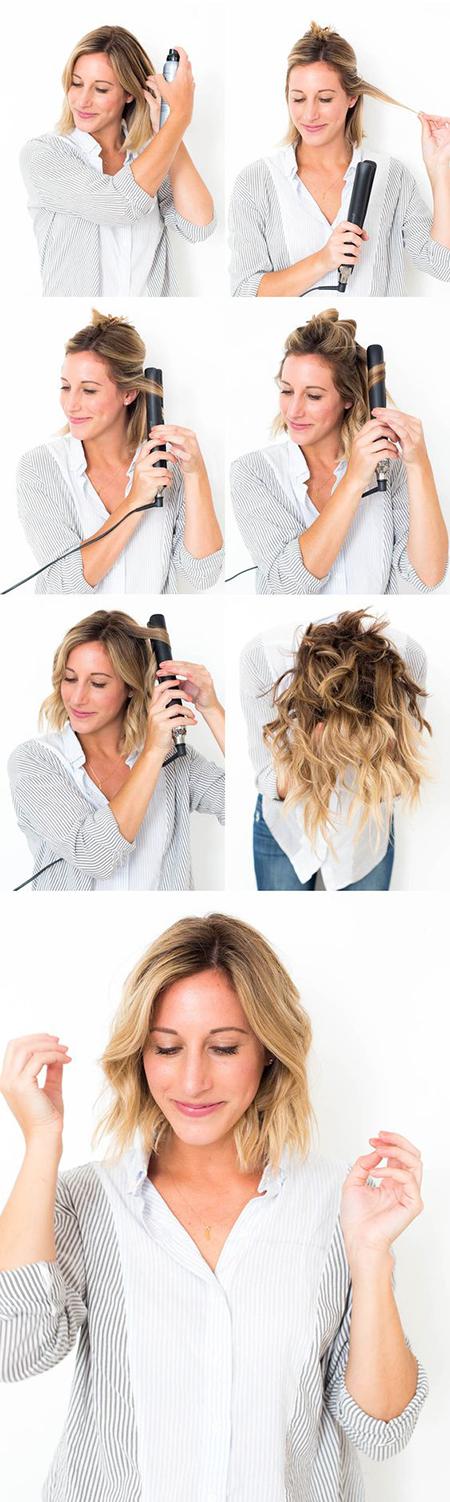 Hacer ondas en el pelo corto