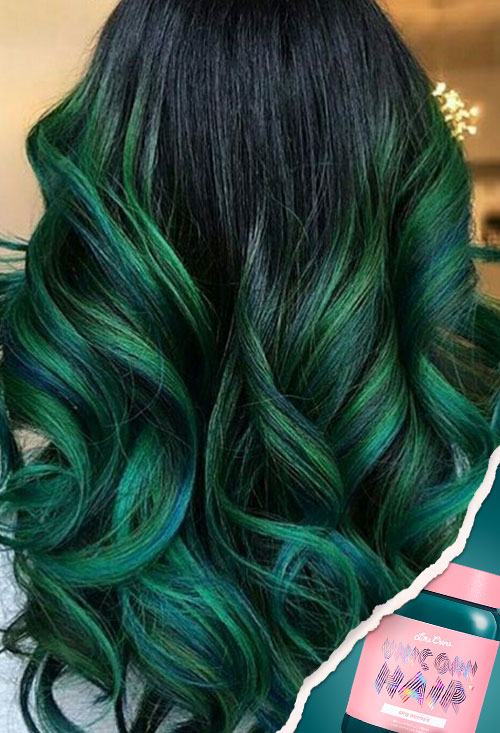 Tintes de cabello Unicorn Hair: Sea Witch de Lime Crime