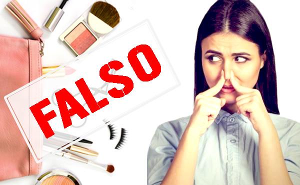 los cosméticos falsos tienen olores fuertes