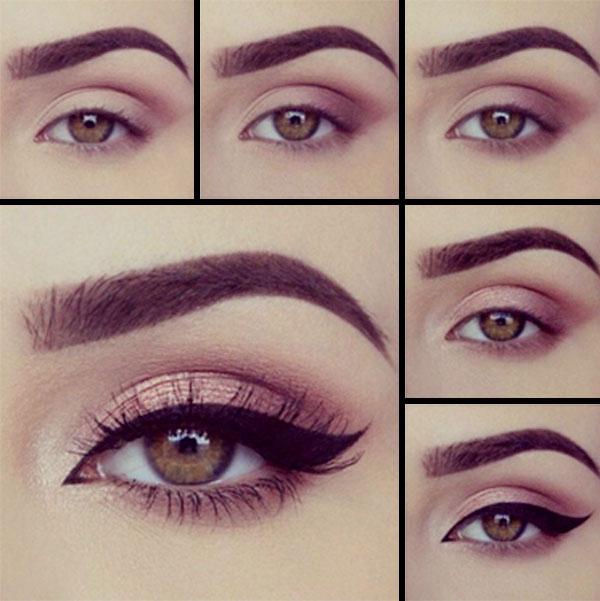 Como maquillar ojos para vestido negro
