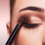 Brochas de maquillaje para las sombras de ojos